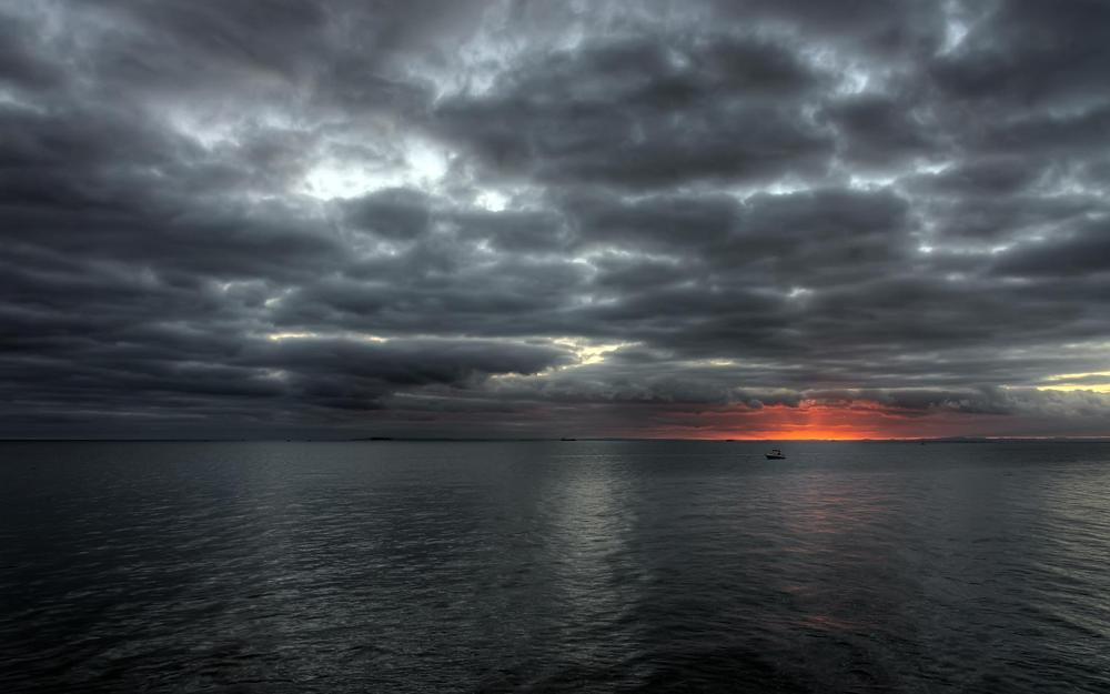 Evening on the sea hd wallpaper