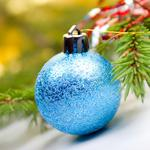 Tree toy blue decorated christmas new year wallpaper