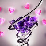Heart, wine glass, spiral, wrapping wallpaper