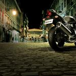 Suzuki motorcycle street city night