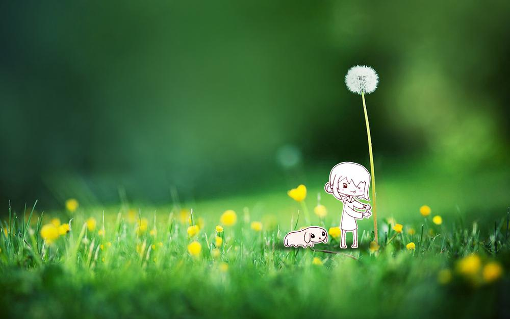 Interest and spring sprouts wallpaper