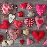Line, heart, red, pink, fabric, hearts, cushions