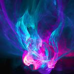 Abstract, purple, blue, patterns, fire pink