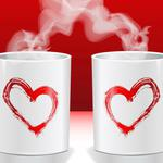 Cup, hot, heart