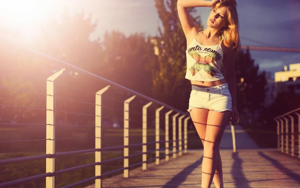 Girl, sunshine, sunset, europe, beautiful, blonde, sexy, wallpaper