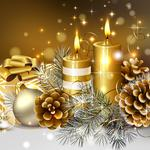 Candles, gifts, pine nuts hd wallpaper