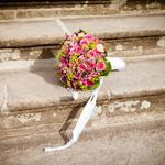 Bouquet, stairs, wedding wallpaper