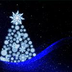 New year, christmas tree, art wallpaper