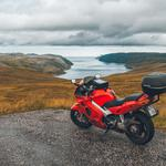 Motorcycle, bike, mountains, sea, honda wallpaper