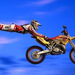 Flight, trick, jump, extreme, motorcycle, suit
