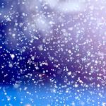 Lights, snow, in the light of