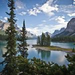 Canada, lake, forest, mountains, trees, nature
