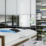 Bedding, interior, closets, bedroom