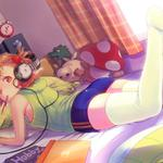 Music, anime headphones, girl room