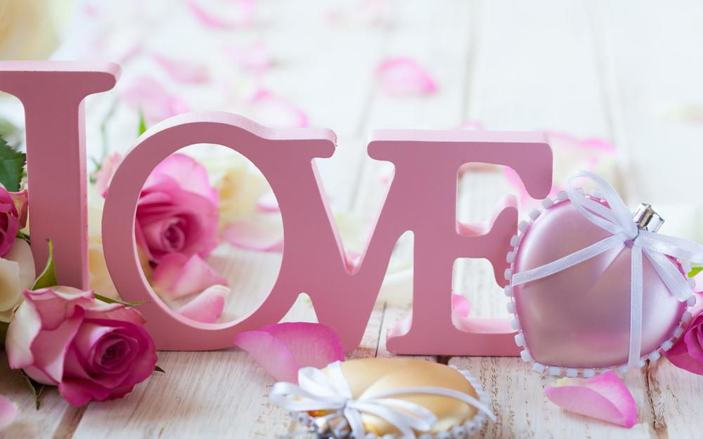Love, pink roses, gifts, pictures, valentine's day, love, desktop wallpaper