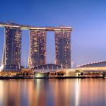 Marina bay sands complex. singapore