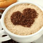 Heart cappuccino cup