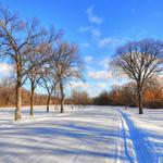 Winter, snow, road, sky, clouds, frost, natural landscape beauties wallpaper
