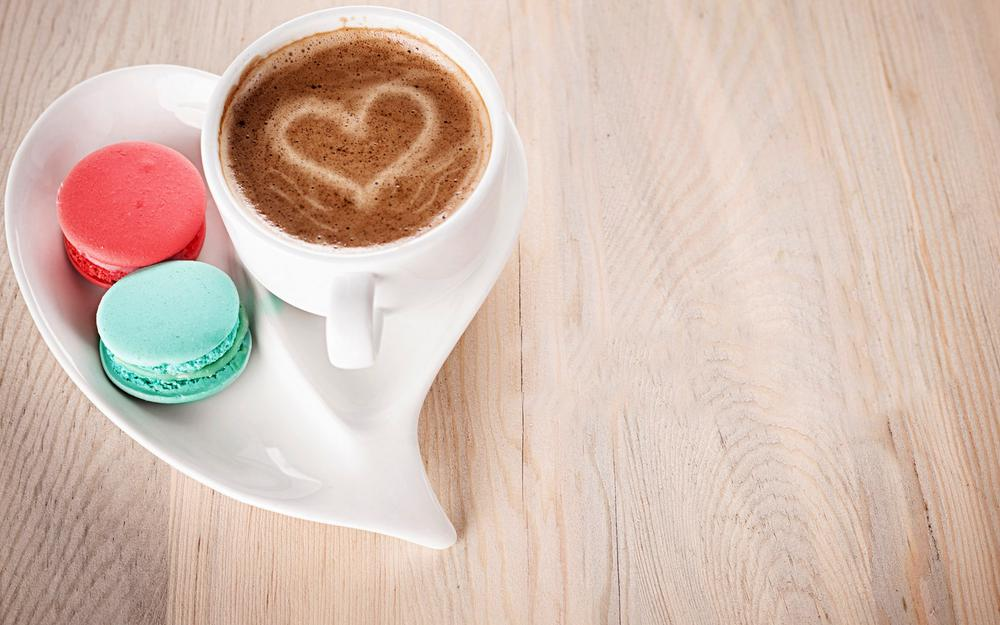 A cup of coffee heart