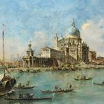 Francesco guardi, painting, punta della dogana in venice, canal, boat, francesco lazzaro guardi