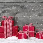 Boxes, christmas, new year, boxes, ribbons, winter, red