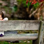 Bench, forest, eyes, smile, children, tree, park, smile, mood boards, seating, girl, girl, bench