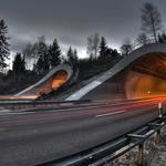 Tunnel in the mountain wallpaper