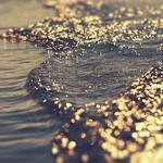 Water, reflections, waves, overflow, light, sea, bokeh, game
