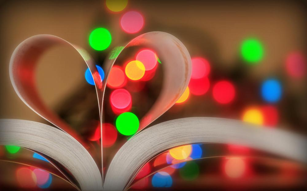 Book lights page wallpaper