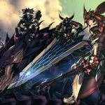 Anime wallpapers, dragons, swords