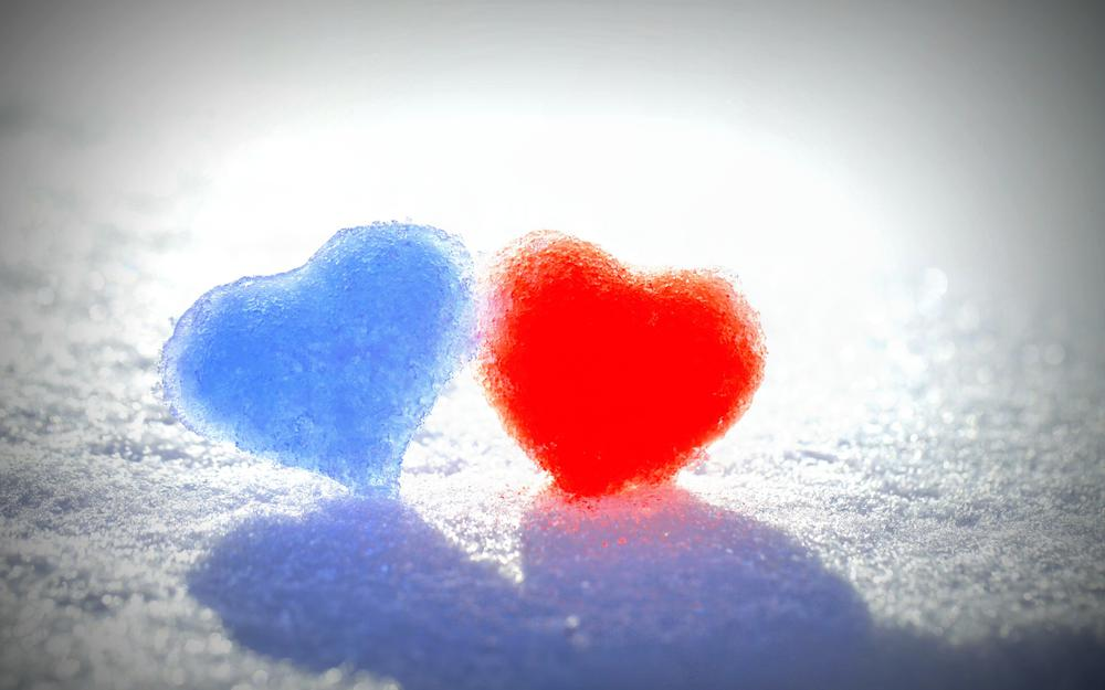 Heart snow ice