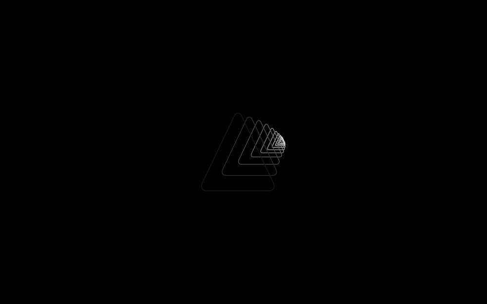 Triangle, darkness, simplicity wallpaper