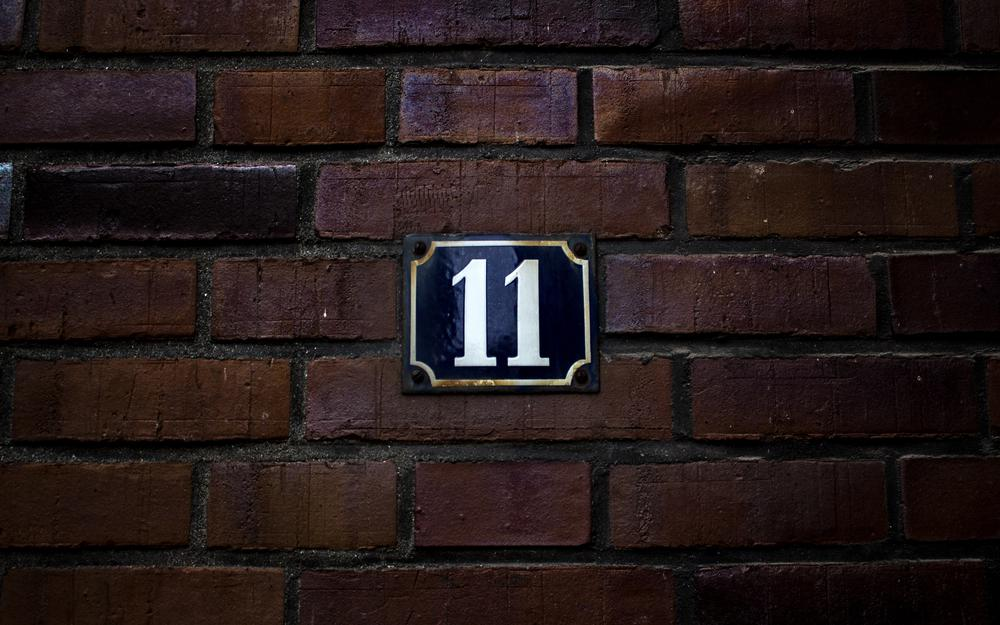 Wall, number, tablet