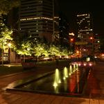 Night pack with fountains