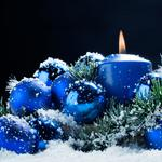 Candle, background, Christmas toys, new year, holiday