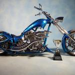 Bike, chopper, blue