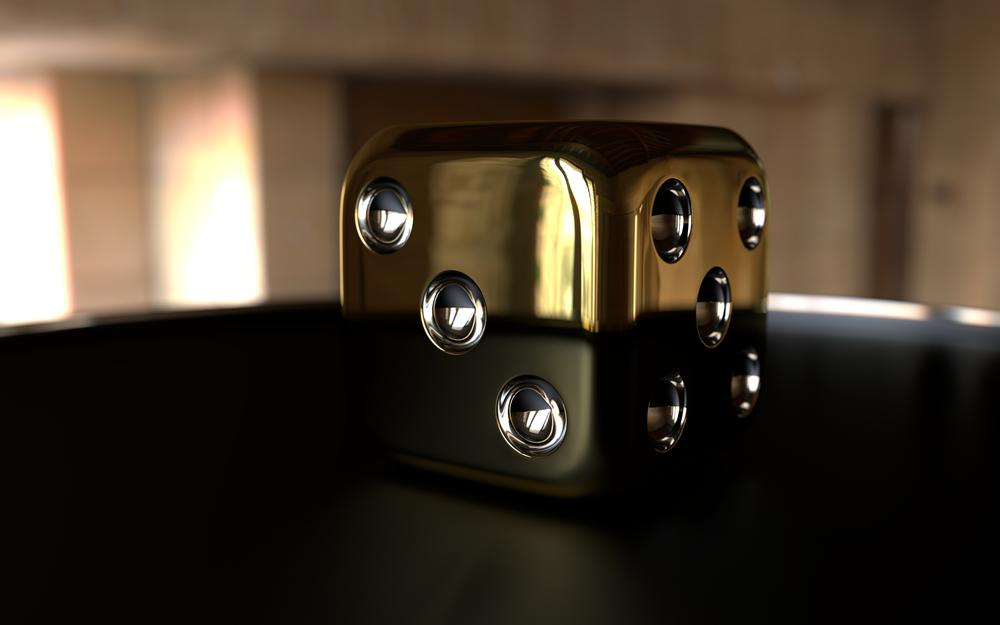 The, cube, gold