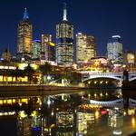 Melbourne, river, night, melbourne night life, lights, city, bridge