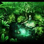 Forest, green, fairy, pond