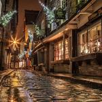 The narrow old streets