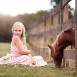 Girl, horse, child and horse
