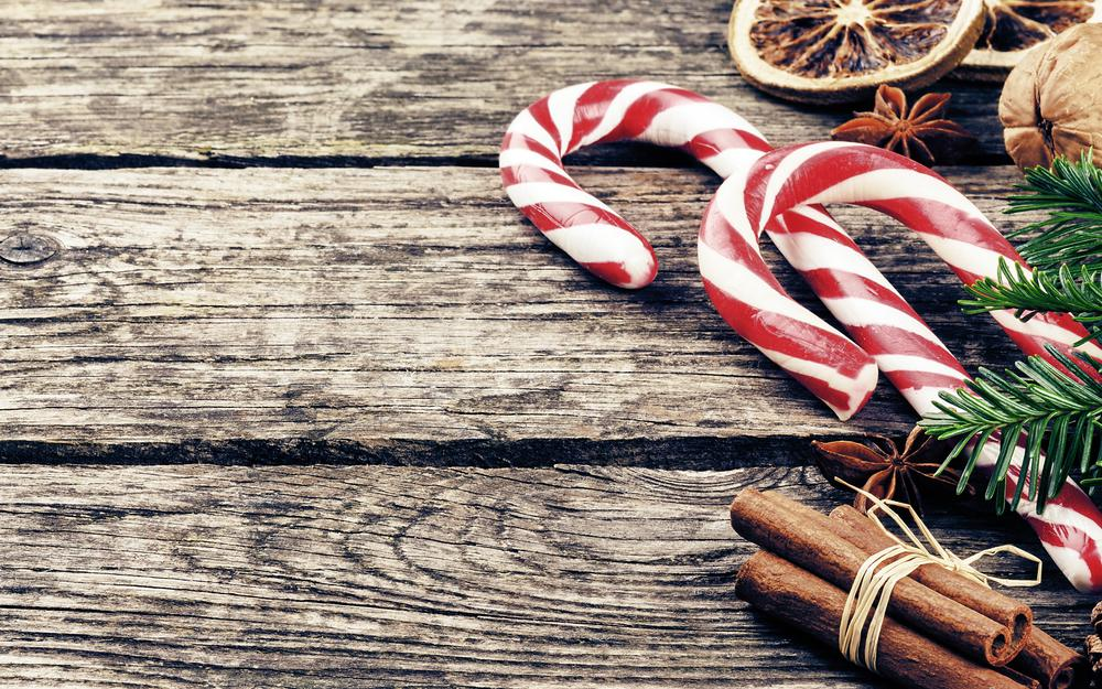 Christmas, nuts, sweets, background, spruce, holidays, cinnamon