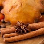 Muffins, pastries, anise, spice, sticks, star anise