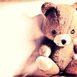 Light, teddy bear, toy