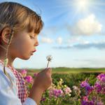 Children, cute beautiful, happy, childhood, flowers, child, clouds, summer, happiness, nature, sky, rose, girls