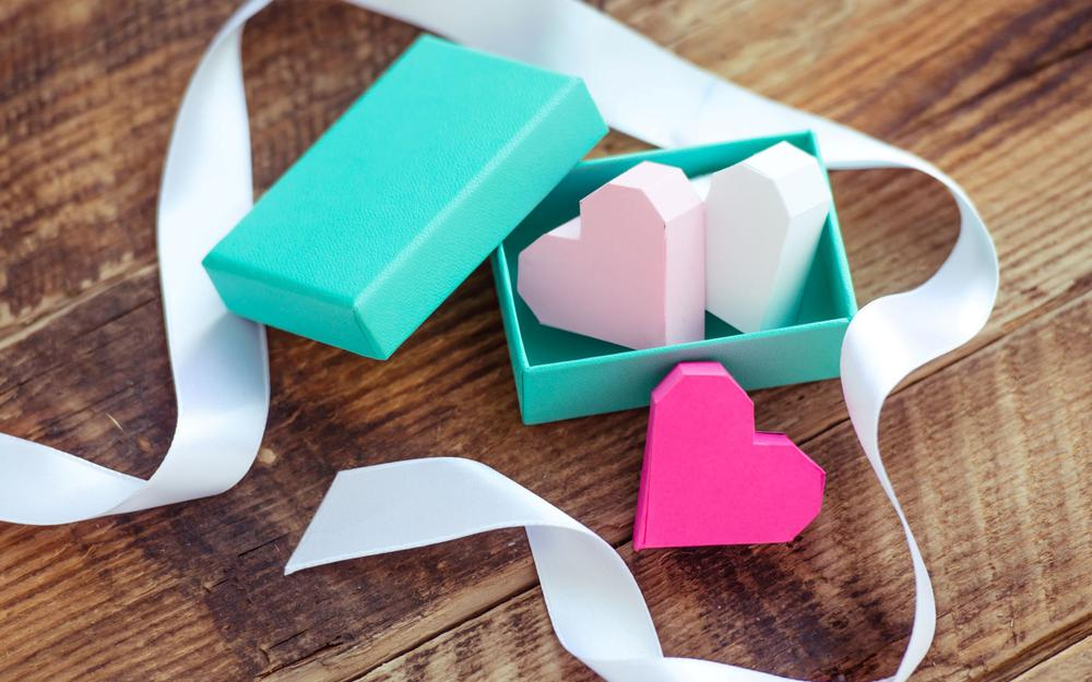 Heart love origami paper