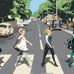 Abbey road, k-on, beatles