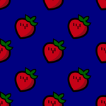 Texture, strawberry, patterns, blue desktop wallpaper