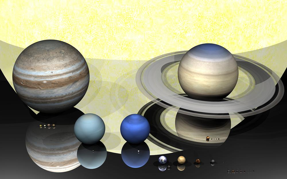 Shapes, planets, solar system