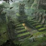 Jungle, grass, lost, temple, leaves, lara croft, trap